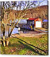 Catoctin Lake Boathouse Canvas Print