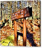 Catoctin Trail Sign Canvas Print