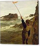 Caught By The Tide Canvas Print