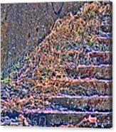 Caution Broken Stairs Canvas Print