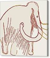 Cave Painting Of A Mammoth, Artwork Canvas Print