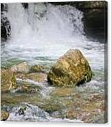 Cave Water Fall Canvas Print