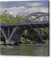 Caveman Bridge With Text Canvas Print
