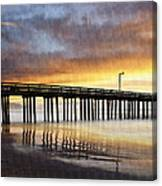 Cayucos Pier Reflected Canvas Print