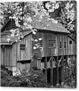 Cedar Creek Grist Mill Bw Canvas Print