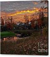 Cedar River Sunrise Canvas Print