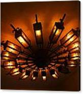 Ceiling Light At One O Clcok Canvas Print