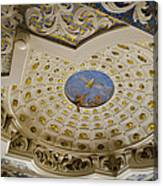 Ceiling With Foot Hanging Out Canvas Print