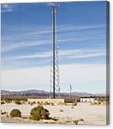 Cellular Phone Tower In Desert Canvas Print