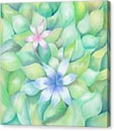 Celtic Flowers Canvas Print