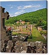 Cemetery In France Canvas Print