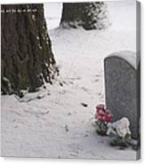 Cemetery In Winter Canvas Print