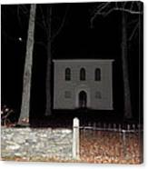 Cemetery On A Full Moons Night Canvas Print