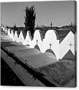 Cemetery Spain Three Canvas Print