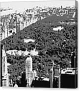 Central Park Bw3 Canvas Print