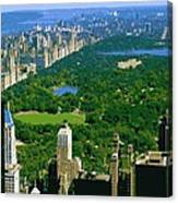 Central Park Color 16 Canvas Print