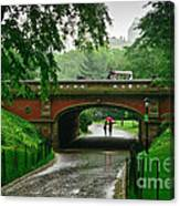 Central Park In The Rain Canvas Print