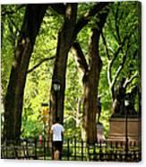 Central Park Jogging Canvas Print
