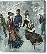 Central Park, Nyc, 1877 Canvas Print
