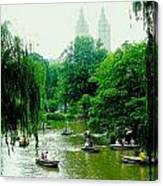 Central Park Pond Canvas Print