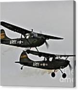 Cessna Bird Dog O-1el-19 Canvas Print