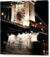 Chain Bridge At Night Canvas Print