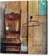 Chair By Open Door Canvas Print