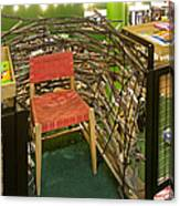 Chair In A Bookstore Canvas Print