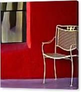 Chair On The Balcony Canvas Print