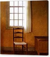 Chair Under Window Canvas Print