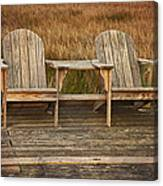 Wooden Chairs Canvas Print