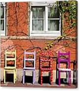 Chairs At Hamlyn Canvas Print