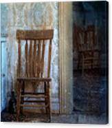 Chairs In Rundown House Canvas Print