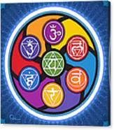 Chakra Circle Canvas Print