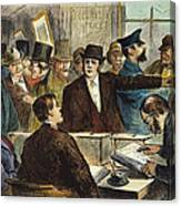 Challenging A Voter, 1872 Canvas Print