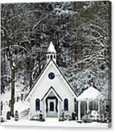 Chapel In The Snow - D007592 Canvas Print