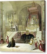 Chapel Of The Annunciation Nazareth Canvas Print