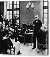 Charcot Demonstrating Hysterical Case Canvas Print