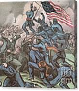 Charge Of The 54th Massachusetts Canvas Print