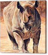 Charging Rhino Canvas Print