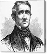 Charles Goodyear /n(1800-1860). American Inventor. Line Engraving, 19th Century Canvas Print