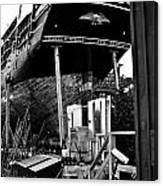 Charles W Morgan Hays  And Ros Clark Ship-lift  Canvas Print