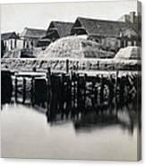 Charleston South Carolina - Vanderhorst Wharf - C 1865 Canvas Print