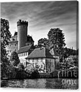 Chateau On The Lake At Annecy Canvas Print