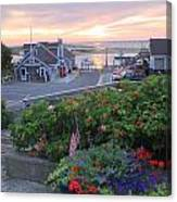Chatham Fish Pier Summer Flowers Cape Cod Canvas Print