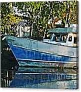 Chauvin La Blue Bayou Boat Canvas Print