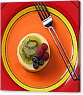 Cheesecake On Plate Canvas Print
