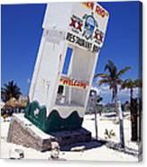 Chen Rio Beach Bar Sign Cozumel Mexico Canvas Print