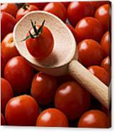 Cherry Tomatoes And Wooden Spoon Canvas Print
