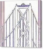 Chesapeake Bridge Between The Lines Canvas Print